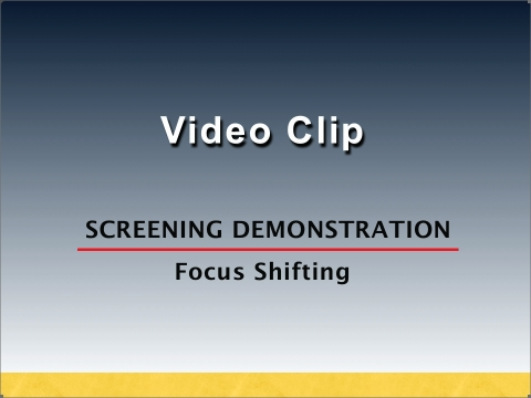 Focus screening demonstration