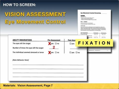 Fixation assessment form
