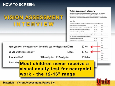 Vision assessment interview