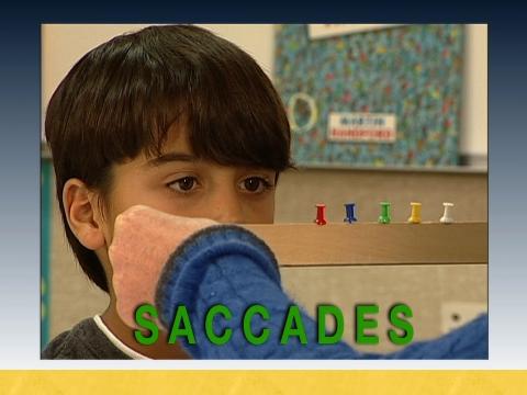 Conducting saccadic screening