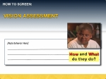 Filling out the assessment tool